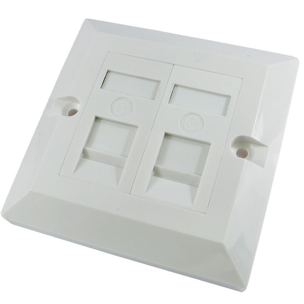 CAT6 Double port Socket RJ45 Wall Face Plate