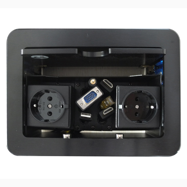 Cover-Sliding hidden cable cubby